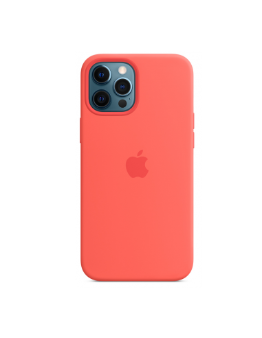 Coque en silicone avec MagSafe pour iPhone 12 Pro Max