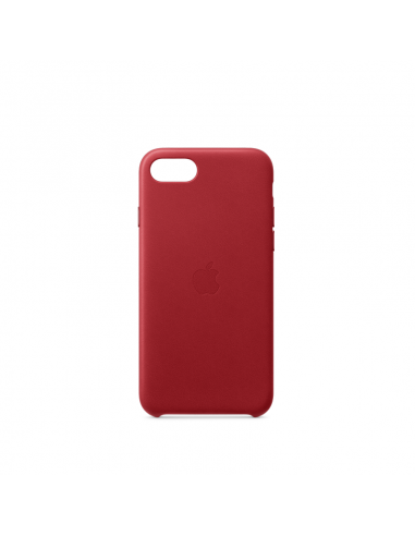 Coque pour iPhone 7/8/SE Cuir Rouge...